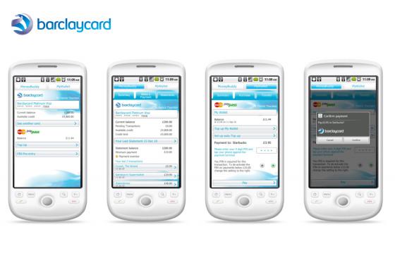 Barclaycard P 2 P App Button