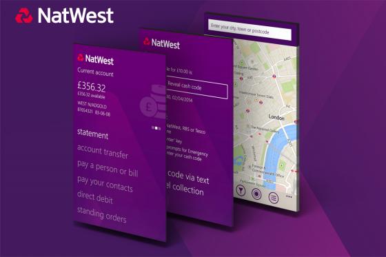 Nat West Windows Phone App Button