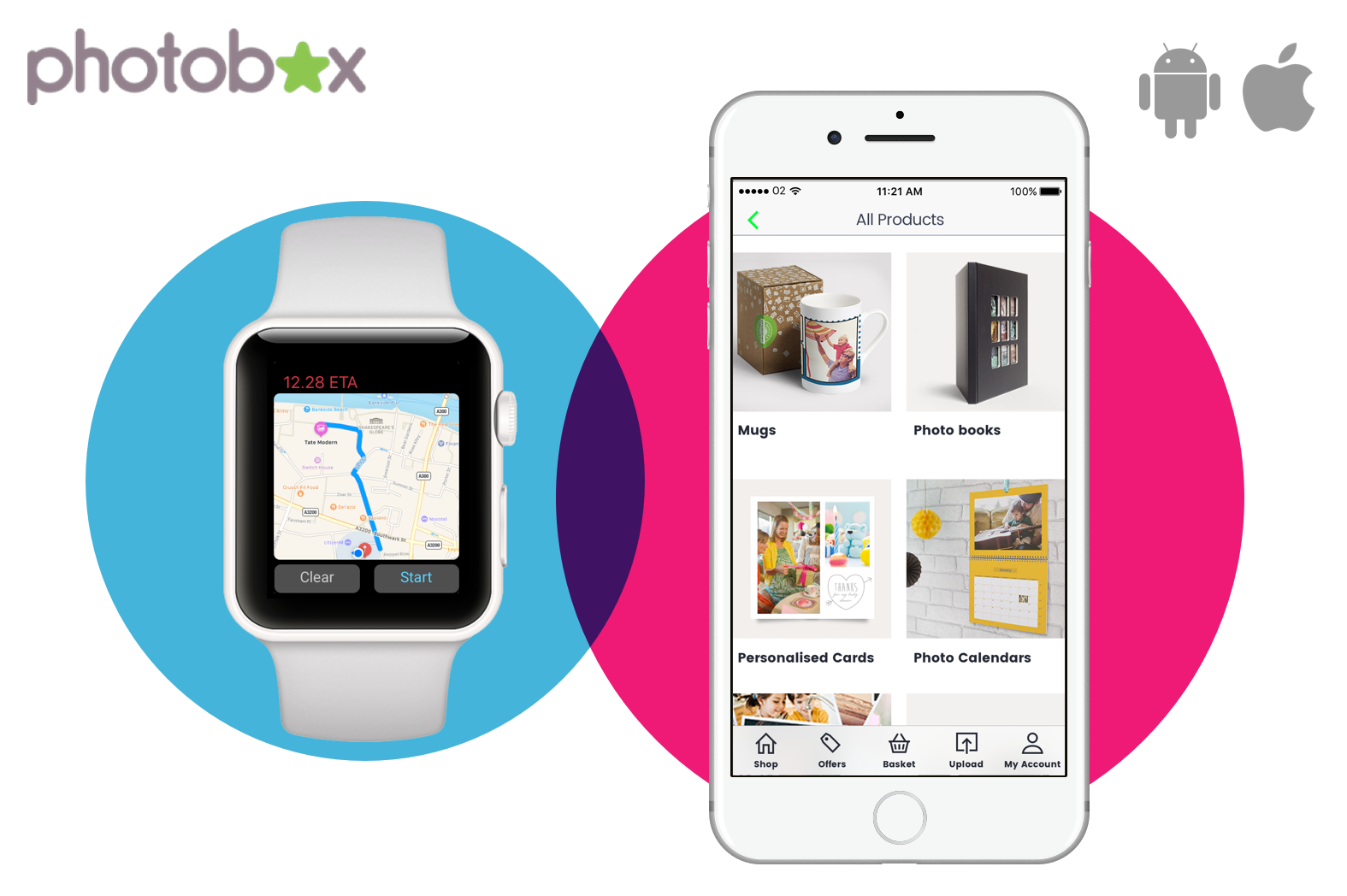Photobox apps Case Study Button